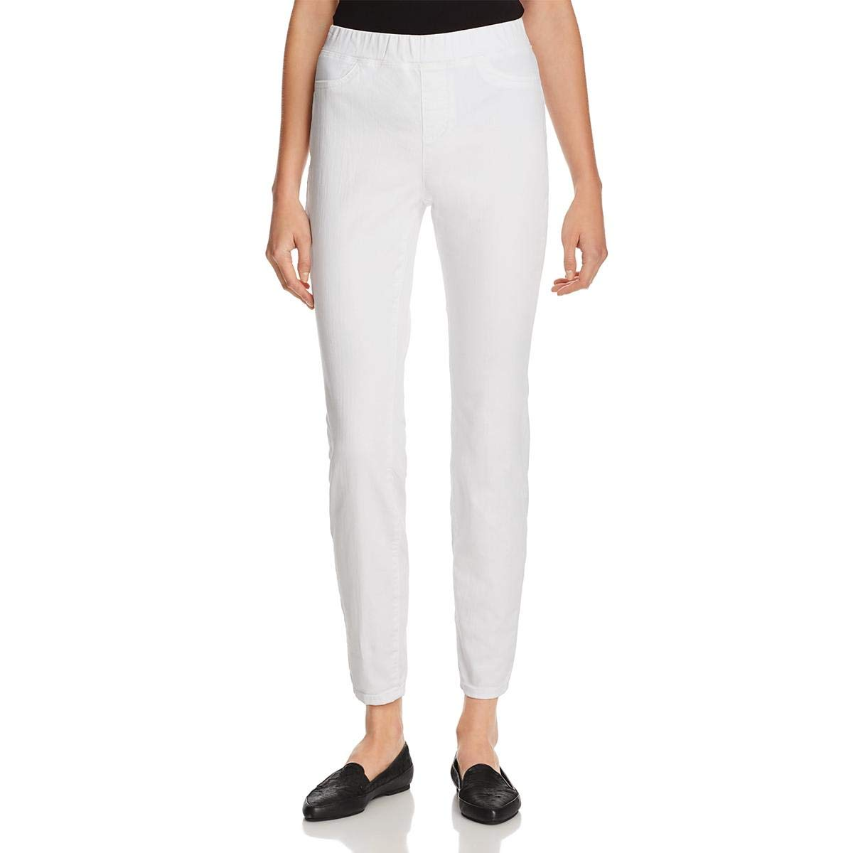 Eileen Fisher Womens Denim High Rise Jeggings White XXS