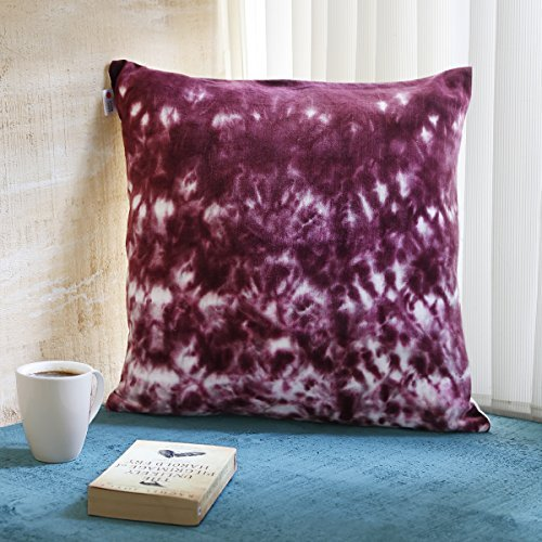 Store Indya Teal Cushion Covers 18 x 18 Cotton Throw Pillow Covers for Sofa Bed Zipper Closure Home Decor 18 x 18 Inches (Single) (Design 01)