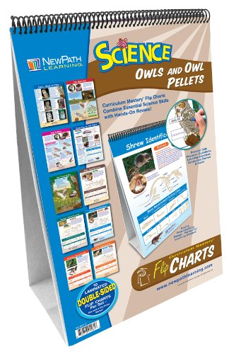 Flip Chart Set (NewPath Learning 10 Piece Science Owls and Owl Pellets Curriculum Mastery Flip Chart Set, Grade 5-9)