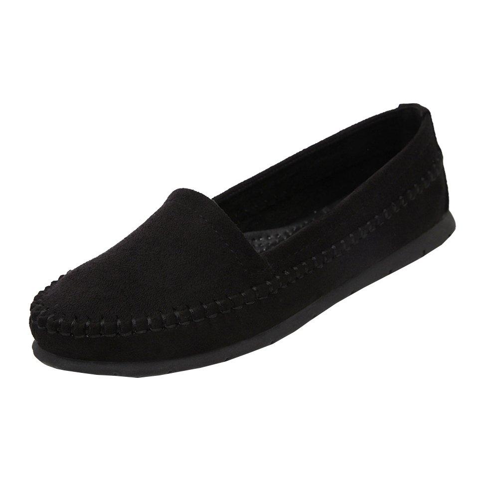 Loisirs Confort B01N7ANLKV Chaussures Plates Loafers en Cuir Conduite en Bateau Chaussures de Conduite Noir c6d8a9b - reprogrammed.space
