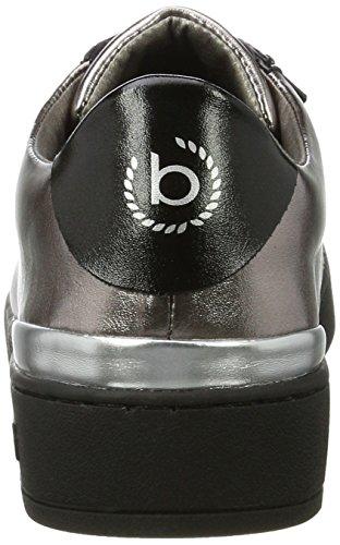 Bugatti Damen 422291605050 Sneaker Schwarz (nero / Metallico)
