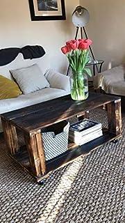 Mesa de Palets Color Madera Natural - Barnizada con barniz ...