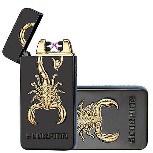 Kivors USB Rechargeable Flameless Electronic Dual Pulse Arc Cigarette Lighter Belief