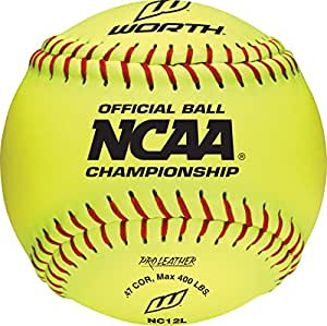 Worth NC12L 12-Inch Leather NCAA Championship Ball,Pack of 12