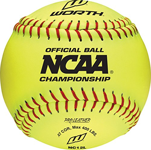 Worth nc12l B000FT7M7K 12-inchレザーNCAA 12-inchレザーNCAA Championshipボール、12のパック Worth B000FT7M7K, ミヤザキシ:d577d035 --- sayselfiee.com