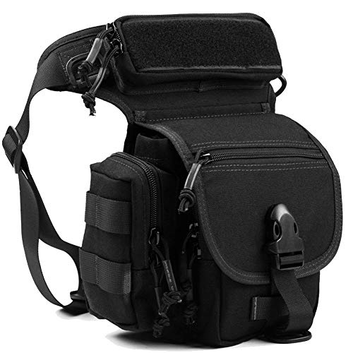 REEBOW GEAR Military Tactical Drop Leg Bag Tool Fanny Thigh Pack Pouch Motorcycle Thermite Versipack Black