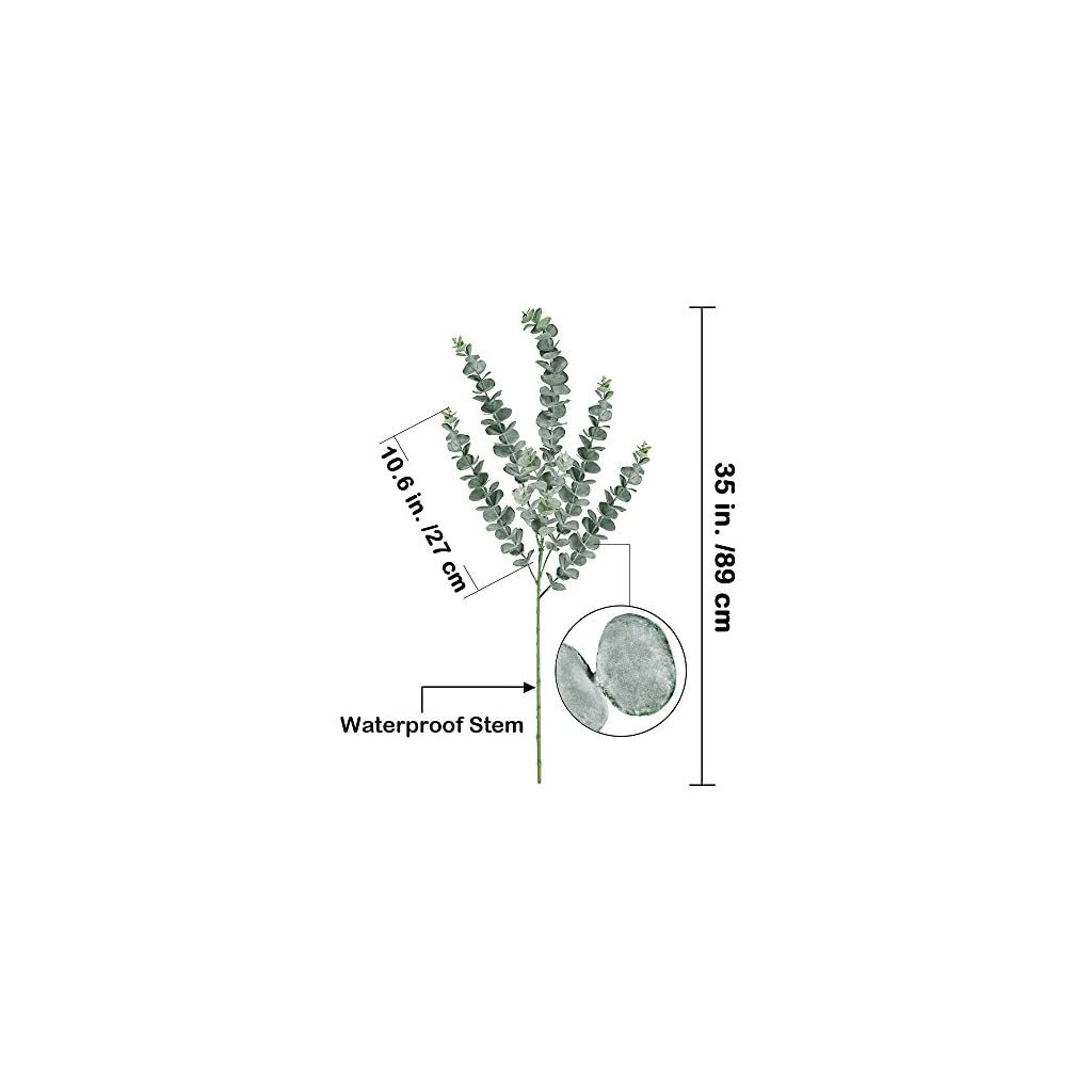 Supla-3-Pcs-Faux-Eucalyptus-Leaves-Spray-Artificial-Eucalyptus-Branches-Plants-Artificial-Greenery-Stems-35-Tall-in-Grey-Green-for-Greenery-Wedding-Party-Floral-Arrangement
