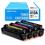 myCartridge Compatible Toner Cartridge Replacement HP 410A CF410A Fit HP Color Laserjet Pro MFP M477 M477fdw M477fnw M477fdn M452 M452dw M452nw M452dn M377dw Printer