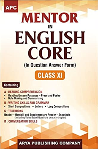 APC Mentor in English Core In Question Answer Form Class-XI: Amazon