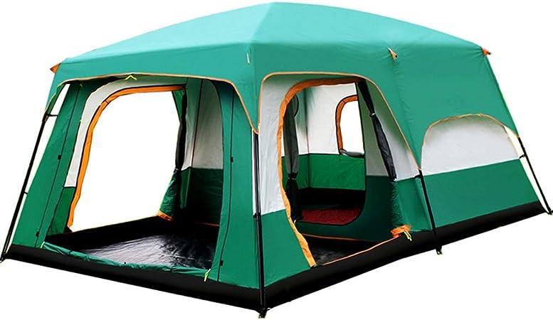 Tiendas de campaña Cabaña Familiar Tienda 8-12 Personas Base Camp Senderismo Camping Refugio al Aire Libre (Color : Green, Size : One Size): Amazon.es: Hogar