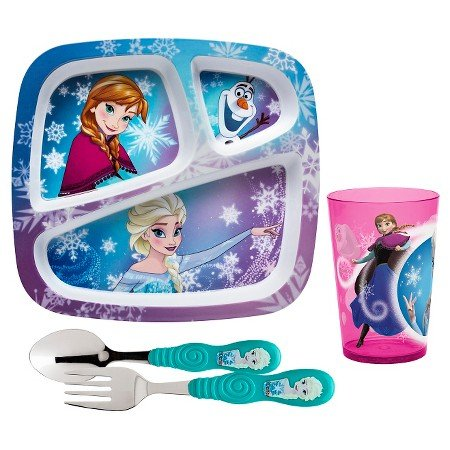 New Zak! Frozen Girl Line Dinnerware Set of 4