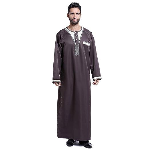 BMSGM Traje árabe Bata Ropa islámica Hombres Casual Étnico ...