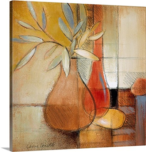 Lanie Loreth Premium Thick-Wrap Canvas Wall Art Print entitled Afternoon Bamboo Leaves I - Life Transitional Still