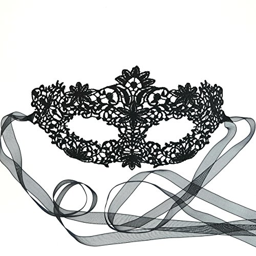 Gorgeous Black Coachella Lace Masquerade Mask by Samantha Peach ()