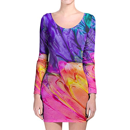Queen of Cases - Robe - Motifs - Manches Longues - Femme multicolore Multicoloured taille unique