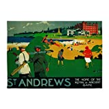 CafePress - St. Andrews, Golf, Vintage Poster - Decorative Area Rug, 5'x7' Throw Rug