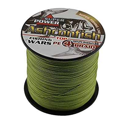 Ashconfish Super Strong Braided Fishing Line-4 Strands Fishing Wire 500M/546Yards Fishing String-Abrasion Resistant Incredible Superline Zero Stretch Small Diameter