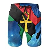 I Like Exercise Ankh African Colored Africa Men's Beach Shorts Printed Quick Dry Board Shorts Medium