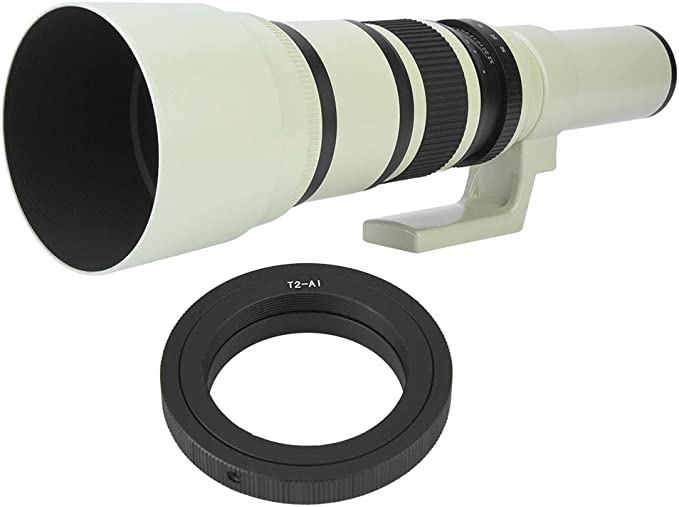 Professional 500mm F6.3 Telephoto Lens Fixed Focus for DSLR SLR Cameras for Canon for Nikon for Sony for Pentax T2-AI Pomya Telephoto Lens