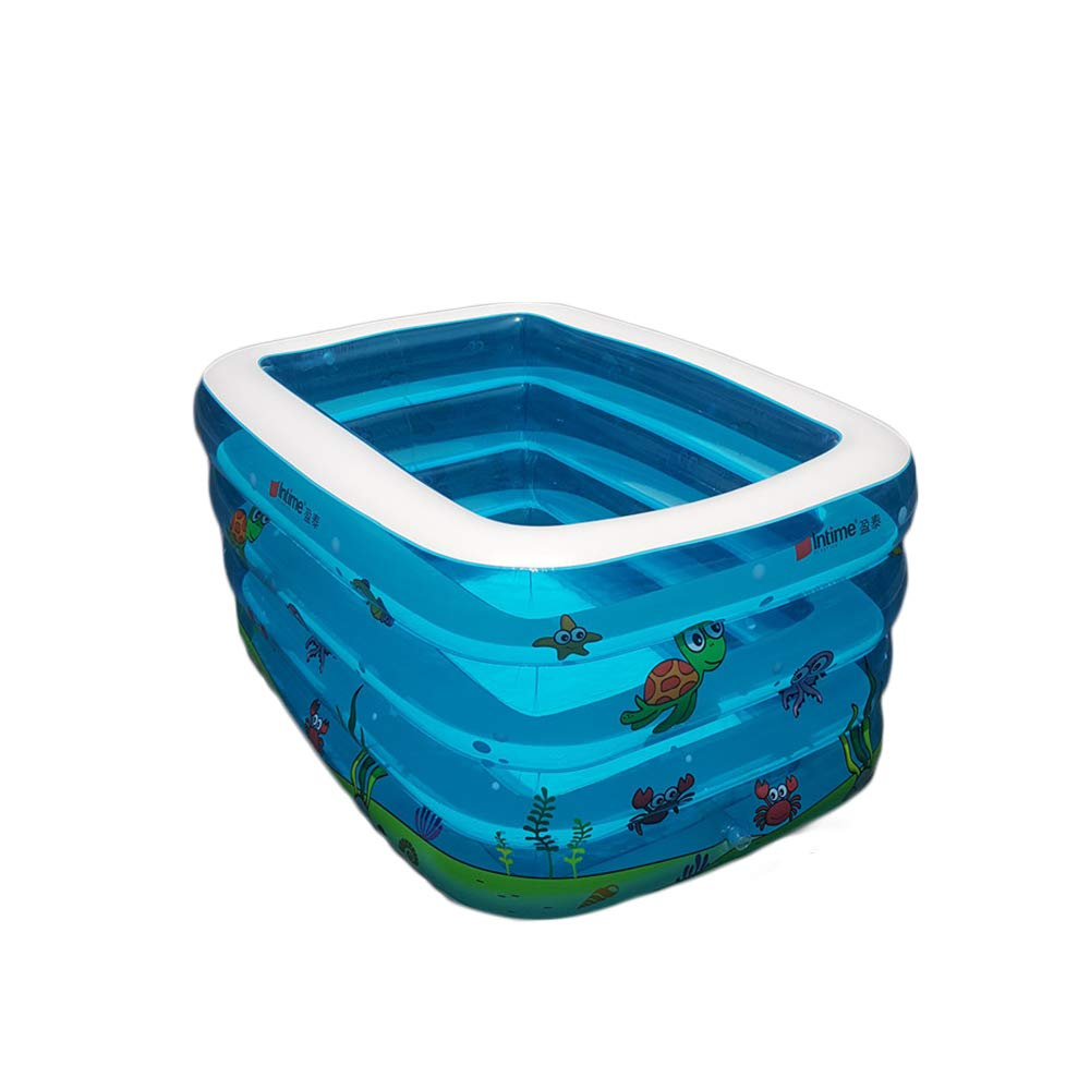 Beautisun Inflatable Pool Family Smooth Safe Foldable Giant Swimming Pool Environmentally Friendly Leakproof Lounge Pool Tasteless Comfort Durable Center Swimming Pool by Beautisun