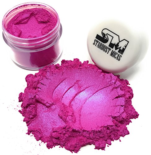 Stardust Micas Pigment Powder Cosmetic Grade Colorant for Makeup, Soap Making, Epoxy Resin, DIY Crafting Projects, Bright True Colors Stable Mica Batch Consistency Sunset Pink (Shimmer Colors 10g Powder)