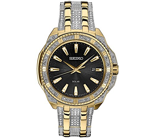 Seiko-Mens-Solar-Goldtone-Crystal-Dial-Watch