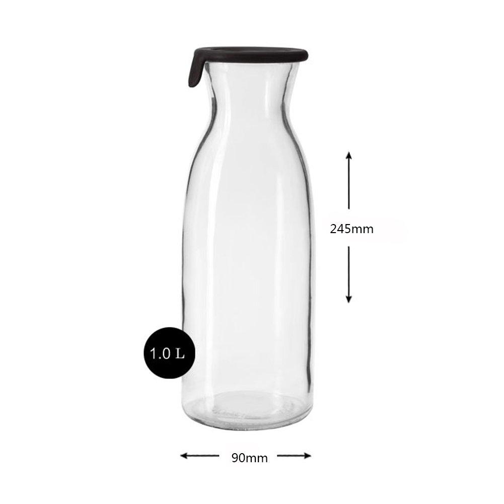 Jarra de vino enfriador de botellas de agua jugo de leche jarra de agua fría bebida creativa botella gran capacidad hervidor-Claro 1000ml: Amazon.es: Hogar