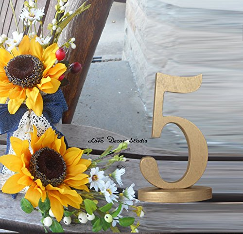table numbers set wedding table reception find your seat table numbers unpainted table numbers painted table numbers DIY numbers (5 inches 1-20 Number)