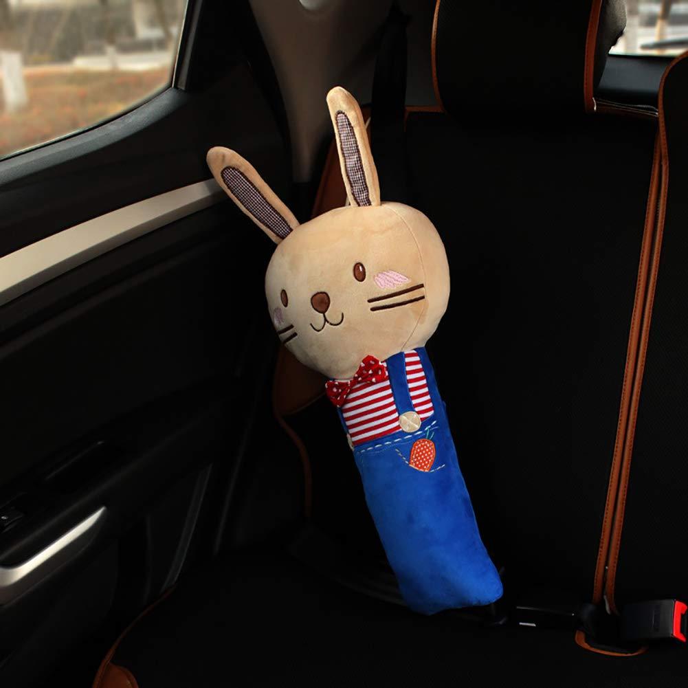 Kaninchen Stil lujiaoshout Cartoon Seatbelt Kissen Auto-Sicherheitsgurt-B/ügel-Abdeckung mit weichen Pl/üsch-Schulterpolstern Autogurt Abdeckungs-Kissen f/ür Kinder Kinder-Baby