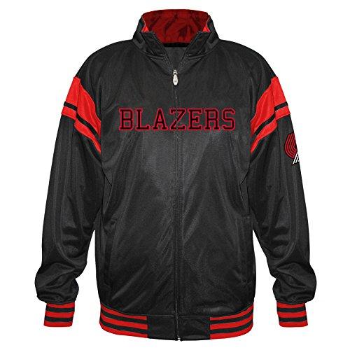 Profile Big & Tall NBA Portland Trail Blazers Tricot Track Arm Piece, Black/Red, 3X