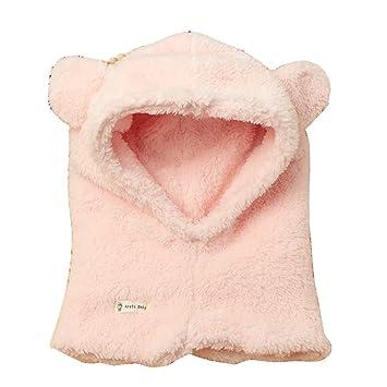 Tukistore Cagoule Calotte Automne Hiver Bonnet Cache Cou Enfant Cagoule Bébé  Garçon Fille Cache Oreilles Capuche cdceeae42f2