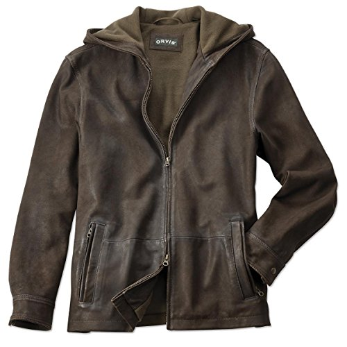 Orvis Men's The Vintage Hooded Leather Jacket, XX Large