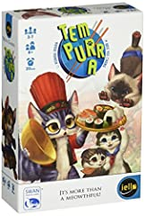 Tem-purr-a is a push-your-luck game where you stuff your whiskers and show your opponents who's the fattest cat around! You and your fellow cats are in an eating contest! Over several rounds, pass dishes to your neighbors or dig into the buff...