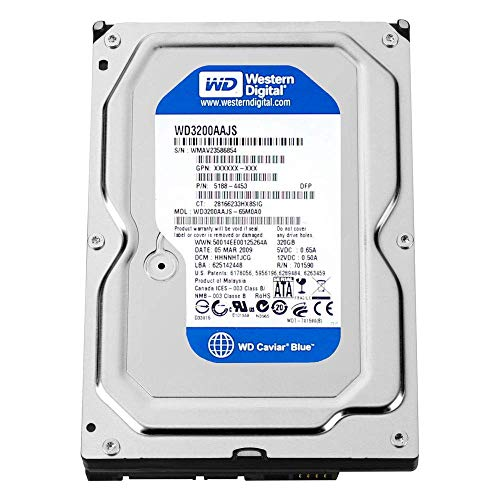 - Western Digital (WD) Caviar Blue 320 GB (320gb) SATA II 7200 RPM 8 MB Cache Bulk/OEM Desktop Hard Drive for PC, Mac, CCTV DVR, NAS, RAID- 1 Year Warranty