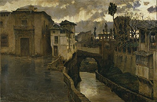 Perfect Effect Canvas ,the Cheap But Art Decorative Art Decorative Canvas Prints Of Oil Painting 'Munoz Degrain Antonio Rainstorm In Granada (Memories Of Granada) 1881 ', 12 X 18 Inch / 30 X 47 Cm Is Best For Nursery Decor And Home Gallery Art And Gifts (Hybrid Microfiber Blazer)