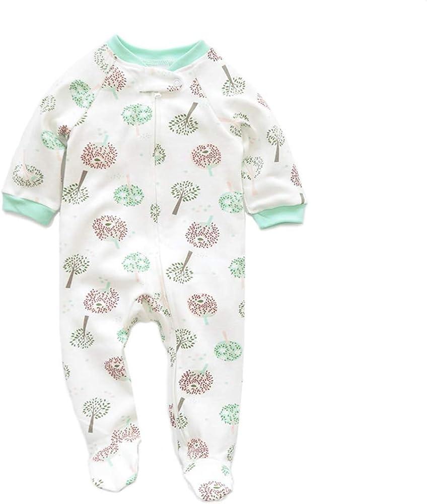AIKSSOO Infant Baby Unisex Dinosaur Printing Cotton Romper Outfit Sleeper Pajamas