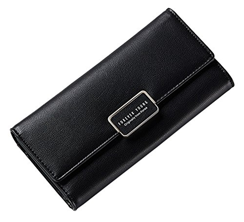 Womens Wallet Holder Black Case SAIERLONG Purse Purple Leather Clutch Pu New RnAq5