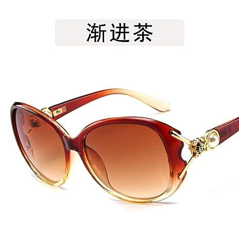 Yangjing-hl Gafas de Sol Perla Gafas de Sol con Cabeza de ...