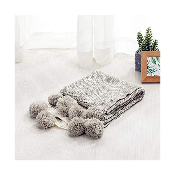 Zebrum Knitted Quilt Blanket,Throw Blanket,Cuddle Sheet for Newborn/Infant/Kids,Soft/Cozy,Breathable, Knit Blanket for Couch,Decorative Knitted Blanket,28 x 39 INCH(Grey)