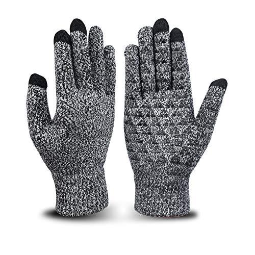 Chelii Knit Gloves Wool Thermal Gloves Winter Touchscreen Phone Gloves Men Women