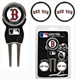 Boston Red Sox Golf Divot Tool With 3 Markers by Hall of Fame Memorabilia