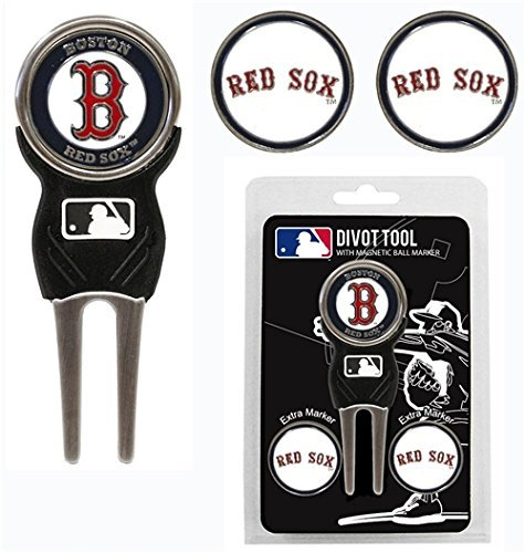 Boston Red Sox Golf Divot Tool With 3 Markers by Hall of Fame ()