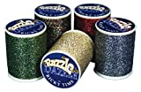 Superior Threads Razzle Dazzle 8 wt. Serger Thread 110 yds Spool Set 25 Colors 120-01-SET