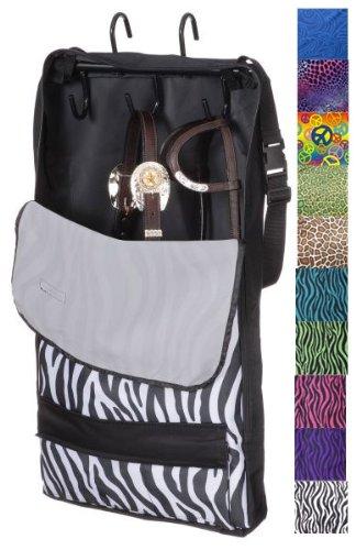 Tooled Leather Black Tough-1 Halter Bridle Bag Tooled Leather Print