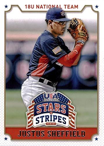 2015 Panini USA Baseball Team Stars and Stripes - Justus Sheffield - 18U National Team - Baseball Rookie Card RC #52