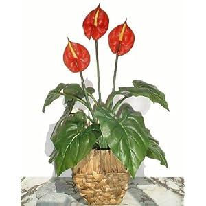 """Neuhaus Decor 21"""" Anthurium Plant, Artificial Flower (WITHOUT POT) 3"""