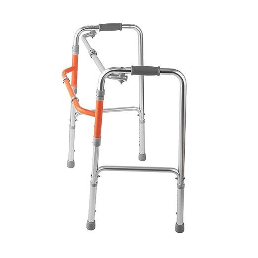 Ayuda de movilidad ligera de aluminio, andador geriátrico plegable ...