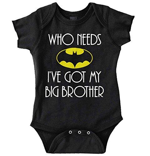 Who Need Batman Big Brother Cute Lego Baby Gift Idea Comic Romper (Girls Batman Onesie)