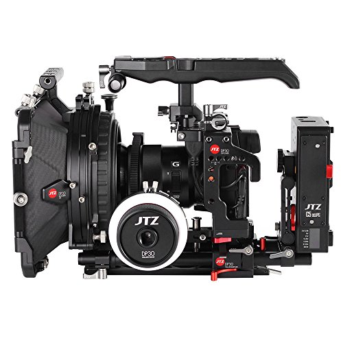 JTZ DP30 JL-JS7 Camera Cage Rig with 15mm Rail Rod Baseplate and Top Handle+Follow Focus+4×4