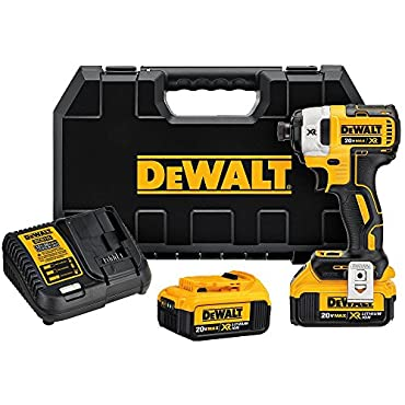 DeWalt DCF887M2 20V MAX XR Li-Ion 4.0 Ah Brushless 0.25 3-Speed Impact Driver Kit